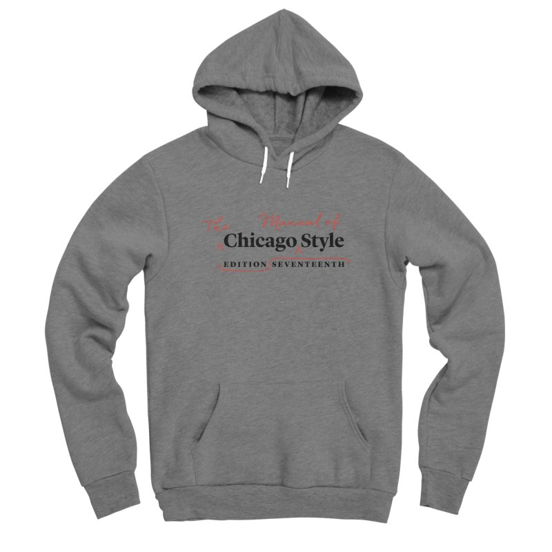 Chicago Style Copyedit, Black + Red/ Men's and Kids Men's Pullover Hoody by Chicago Manual of Style