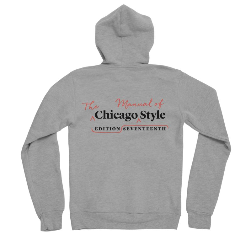 Chicago Style, Black + Red/ Men's and Kids Men's Sponge Fleece Zip-Up Hoody by Chicago Manual of Style