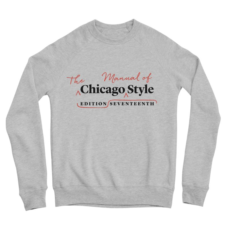 Chicago Style, Black + Red/ Men's and Kids Men's Sponge Fleece Sweatshirt by Chicago Manual of Style