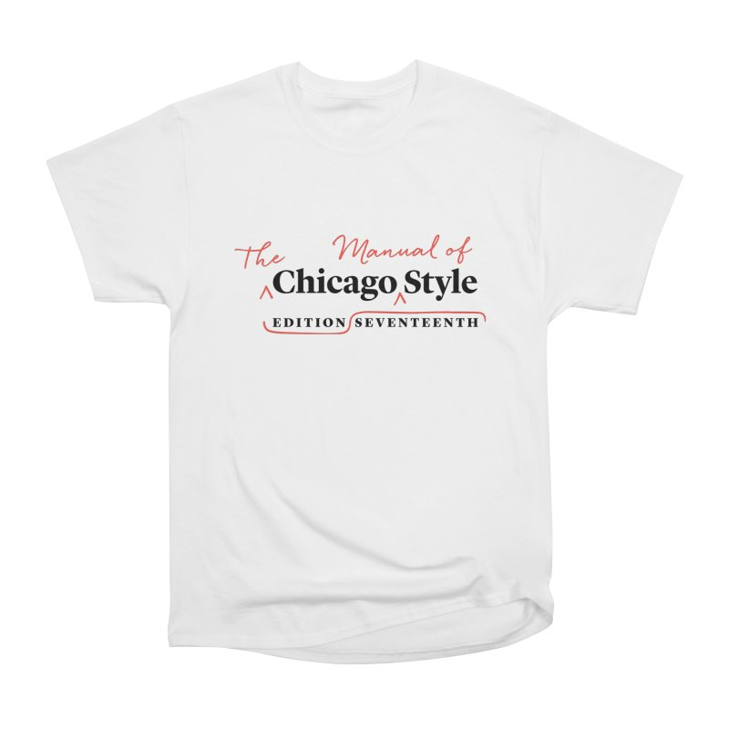 Chicago Style, Black + Red/ Men's and Kids Men's T-Shirt by Chicago Manual of Style