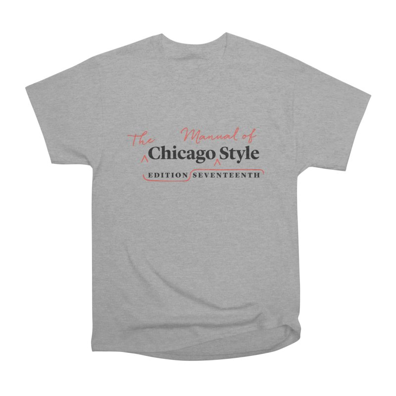 Chicago Style Copyedit, Black + Red/ Men's and Kids Men's Heavyweight T-Shirt by Chicago Manual of Style