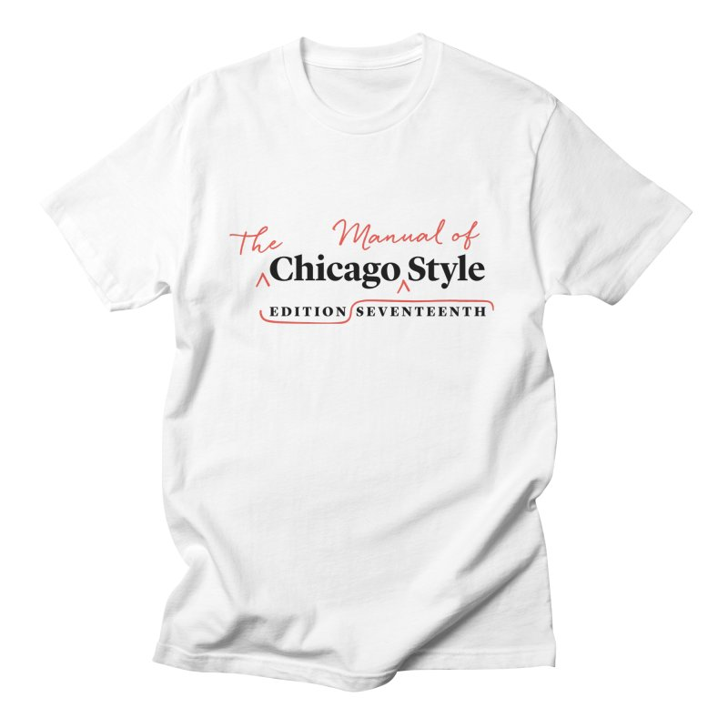 Chicago Style Copyedit, Black + Red/ Men's and Kids Men's Regular T-Shirt by Chicago Manual of Style