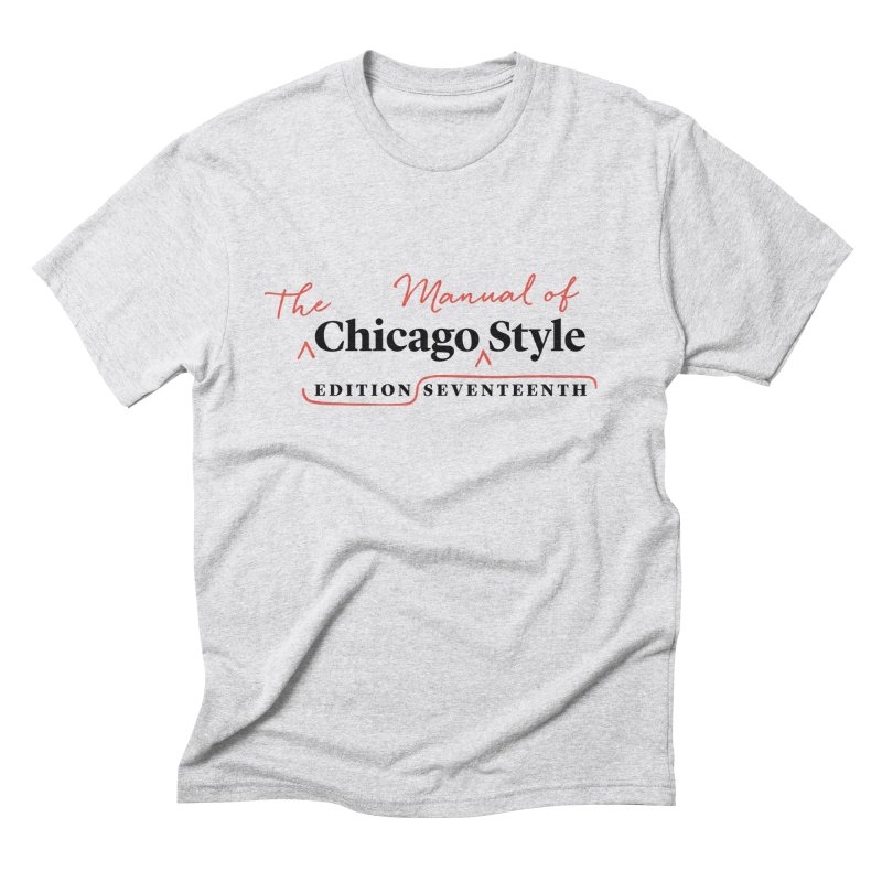 Chicago Style, Black + Red/ Men's and Kids Men's Triblend T-Shirt by Chicago Manual of Style
