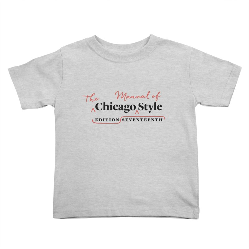 Chicago Style Copyedit, Black + Red/ Men's and Kids Kids Toddler T-Shirt by Chicago Manual of Style