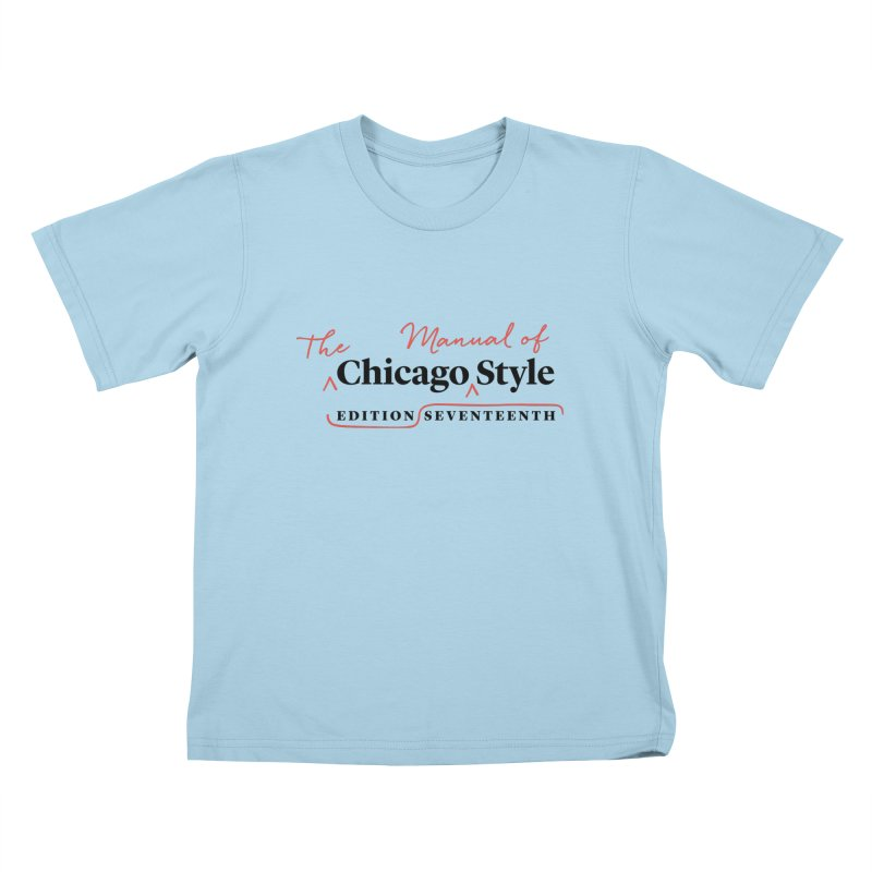 Chicago Style, Black + Red/ Men's and Kids Kids T-Shirt by Chicago Manual of Style