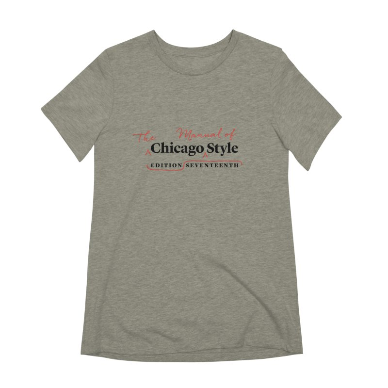 Chicago Style Copyedit, Black + Red / Women's Apparel Women's Extra Soft T-Shirt by Chicago Manual of Style