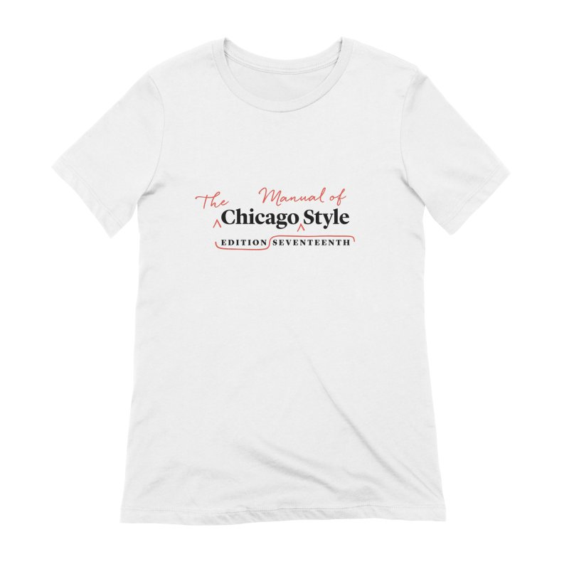 Chicago Style, Black + Red / Women's Apparel Women's Extra Soft T-Shirt by Chicago Manual of Style