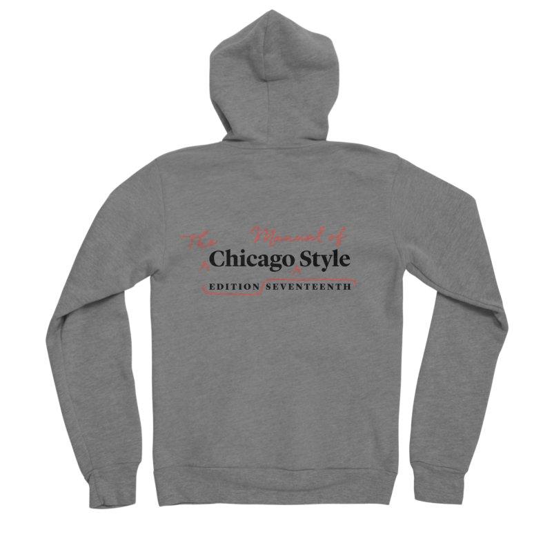 Chicago Style Copyedit, Black + Red / Women's Apparel Women's Sponge Fleece Zip-Up Hoody by Chicago Manual of Style
