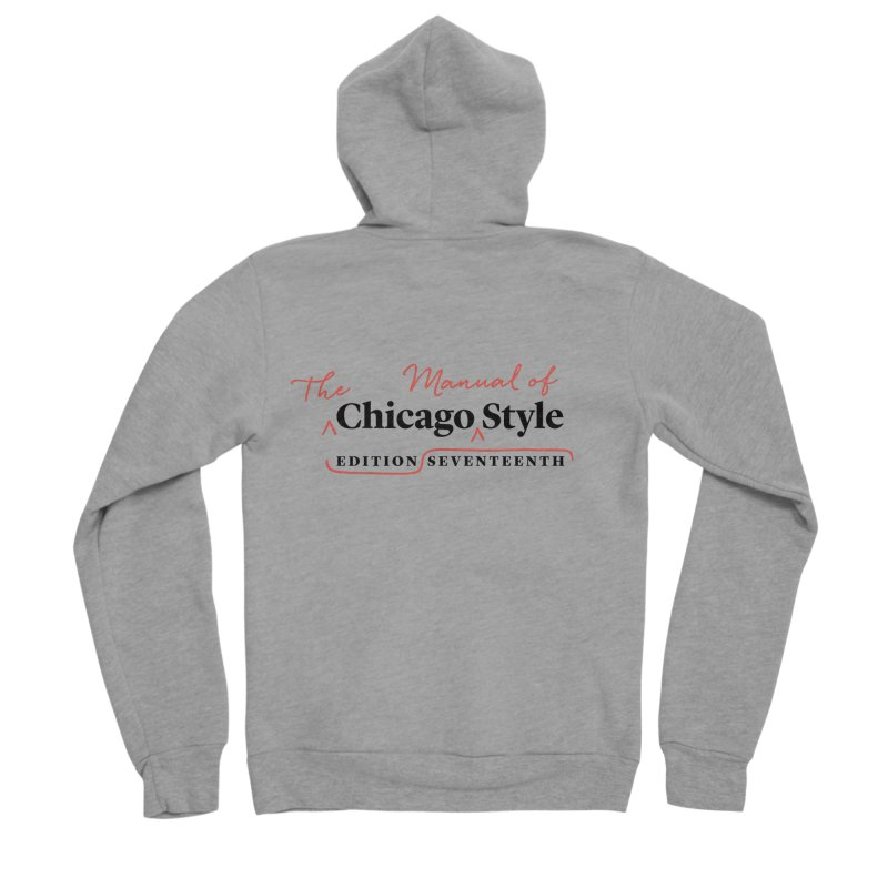 Chicago Style, Black + Red / Women's Apparel Women's Sponge Fleece Zip-Up Hoody by Chicago Manual of Style