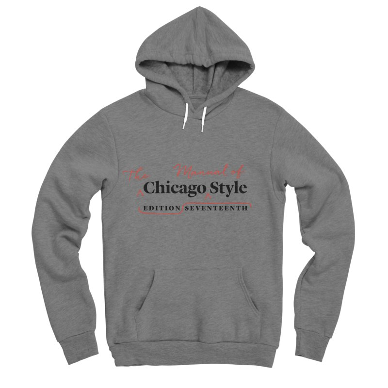 Chicago Style Copyedit, Black + Red / Women's Apparel Women's Sponge Fleece Pullover Hoody by Chicago Manual of Style