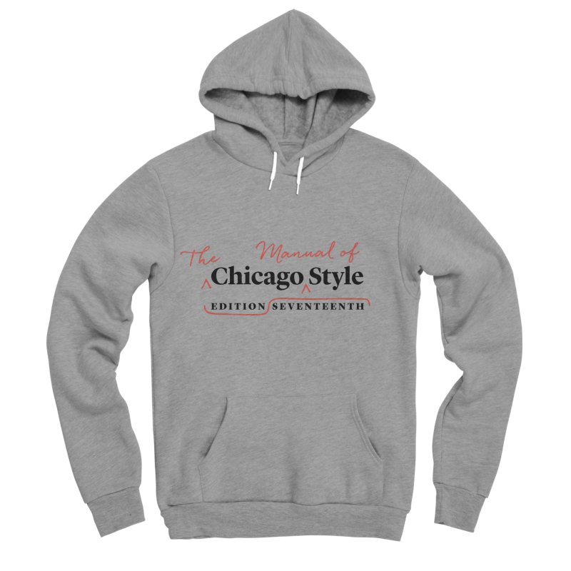 Chicago Style, Black + Red / Women's Apparel Women's Sponge Fleece Pullover Hoody by Chicago Manual of Style