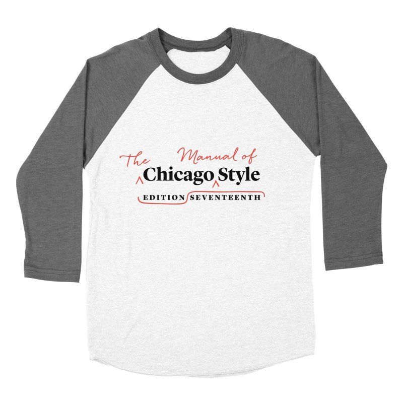 Chicago Style, Black + Red / Women's Apparel Women's Longsleeve T-Shirt by Chicago Manual of Style