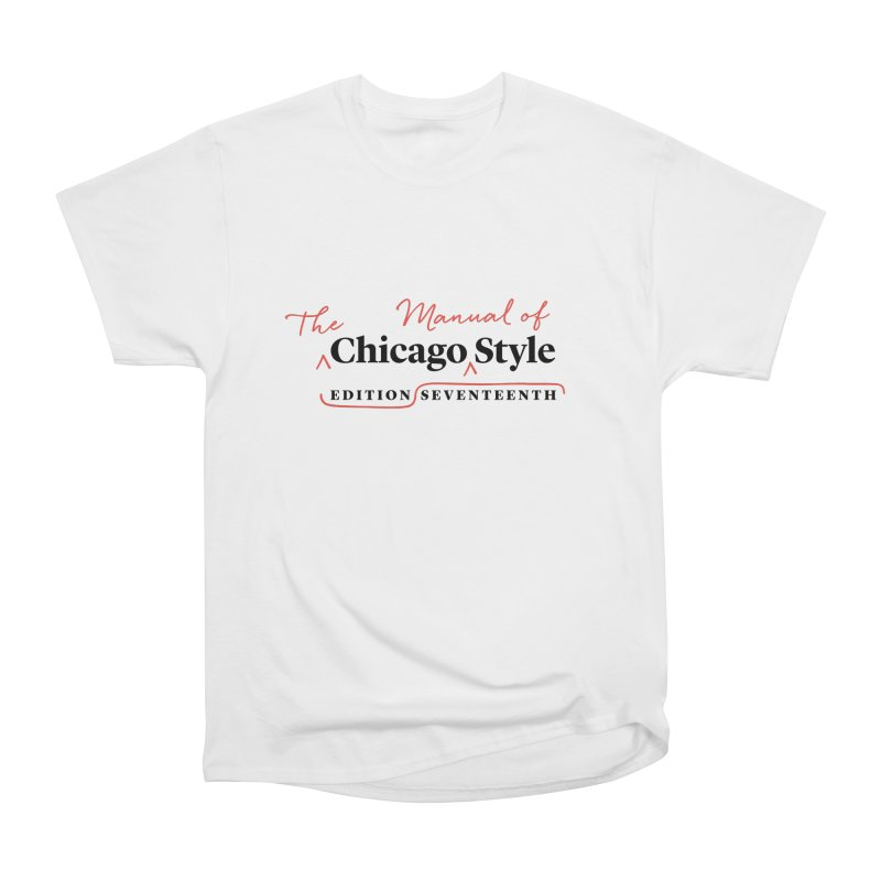 Chicago Style Copyedit, Black + Red / Women's Apparel Women's Heavyweight Unisex T-Shirt by Chicago Manual of Style