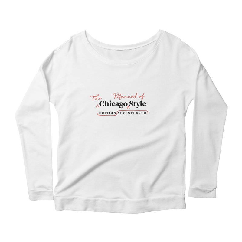 Chicago Style Copyedit, Black + Red / Women's Apparel Women's Scoop Neck Longsleeve T-Shirt by Chicago Manual of Style