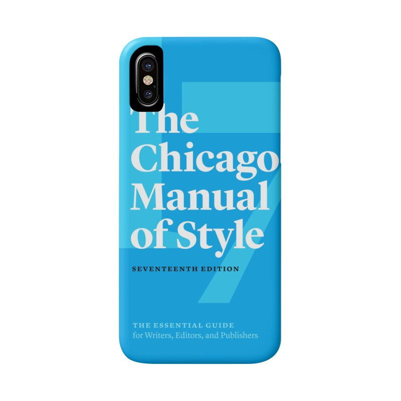 Chicago Manual Book Jacket, Accessories Accessories Phone Case by Chicago Manual of Style
