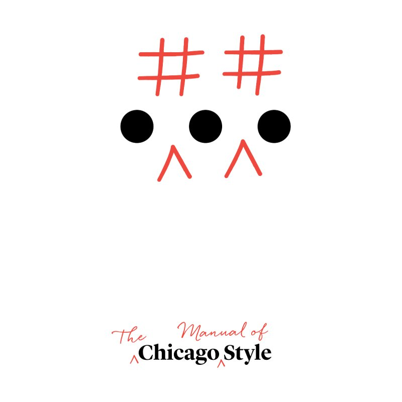 Chicago-Style Ellipsis, Black + Red, Adults' Apparel Men's T-Shirt by Chicago Manual of Style