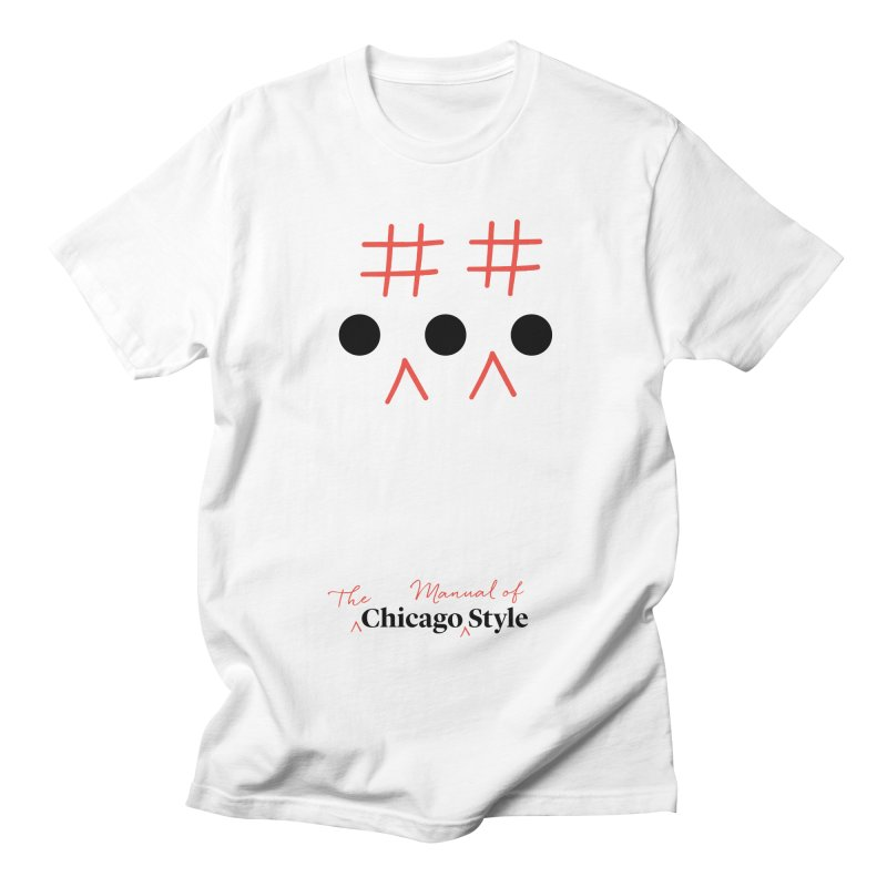 Chicago-Style Ellipsis, Black + Red, Adults' Apparel Men's Regular T-Shirt by Chicago Manual of Style
