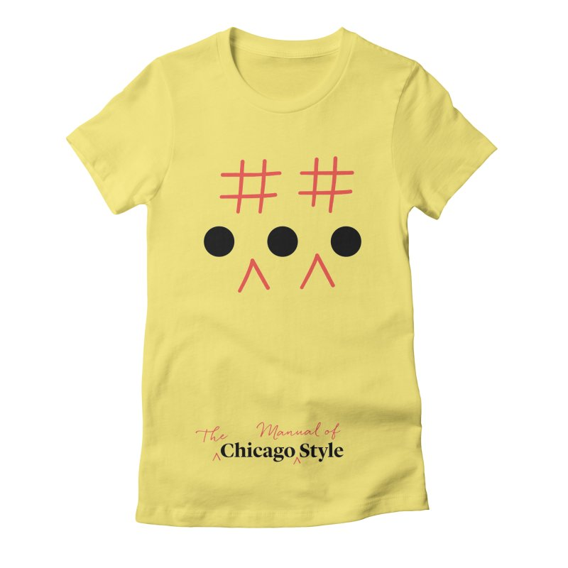 Chicago-Style Ellipsis, Black + Red, Adults' Apparel Women's Fitted T-Shirt by Chicago Manual of Style