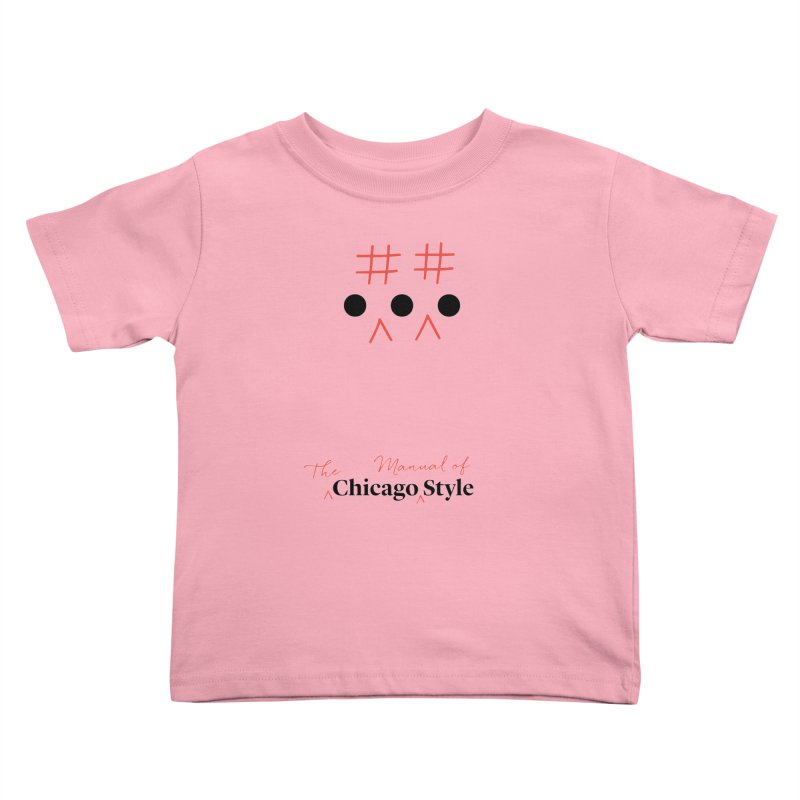 Chicago-Style Ellipsis, Black + Red, Kids' Apparel Kids Toddler T-Shirt by Chicago Manual of Style