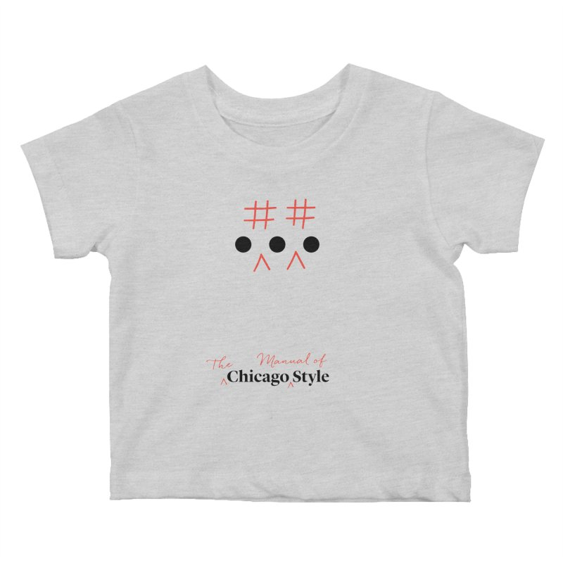 Chicago-Style Ellipsis, Black + Red, Kids' Apparel Kids Baby T-Shirt by Chicago Manual of Style