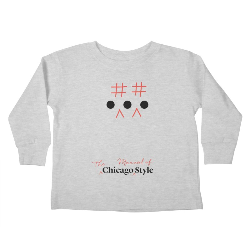 Chicago-Style Ellipsis, Black + Red, Kids' Apparel Kids Toddler Longsleeve T-Shirt by Chicago Manual of Style