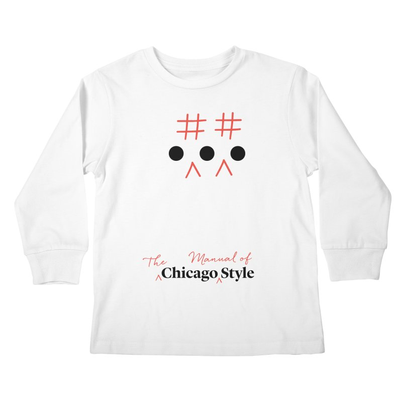 Chicago-Style Ellipsis, Black + Red, Kids' Apparel Kids Longsleeve T-Shirt by Chicago Manual of Style