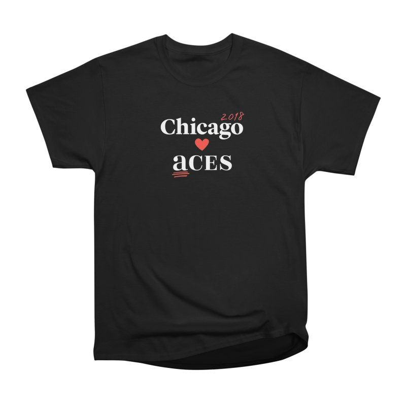Chicago Hearts ACES 2018, Red + White Women's Classic Unisex T-Shirt by Chicago Manual of Style