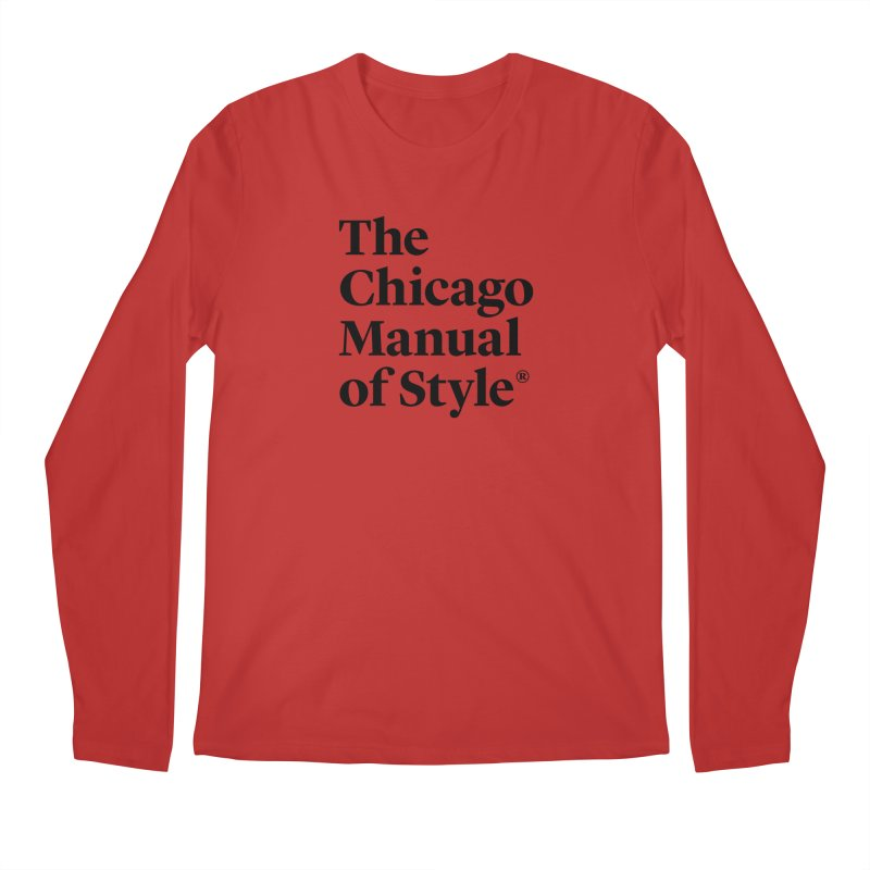 The Chicago Manual of Style, Black Logo Men's Longsleeve T-Shirt by Chicago Manual of Style