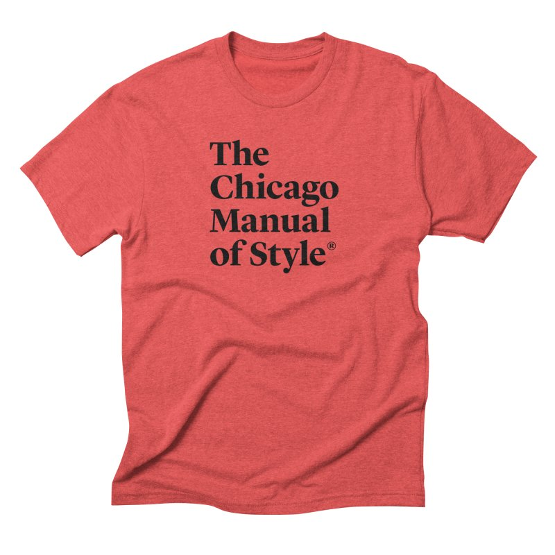 The Chicago Manual of Style, Black Logo Men's Triblend T-Shirt by Chicago Manual of Style