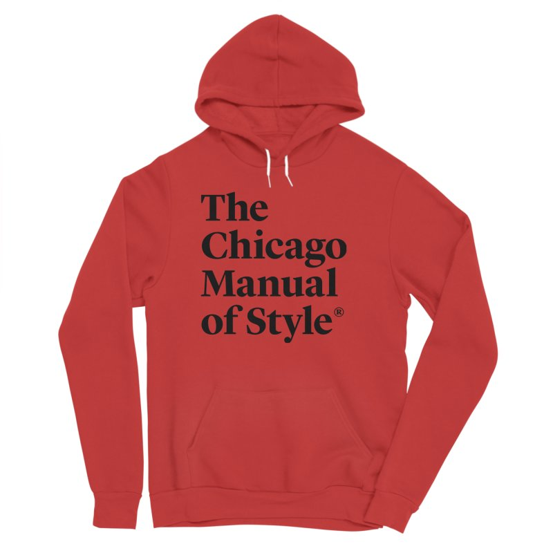 The Chicago Manual of Style, Black Logo Men's Sponge Fleece Pullover Hoody by Chicago Manual of Style