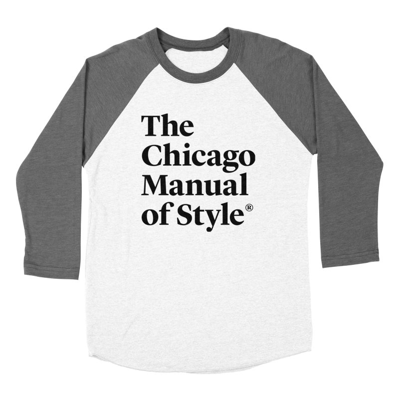The Chicago Manual of Style, Black Logo Women's Longsleeve T-Shirt by Chicago Manual of Style