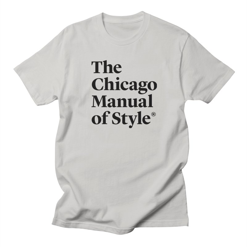 The Chicago Manual of Style, Black Logo Men's Regular T-Shirt by Chicago Manual of Style