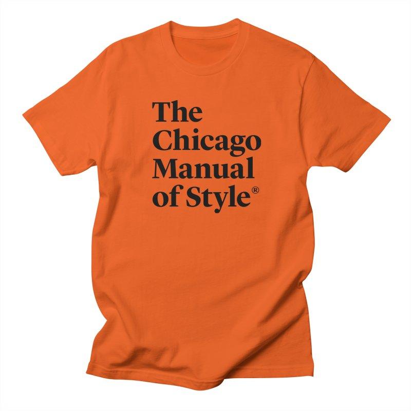 The Chicago Manual of Style, Black Logo Men's T-Shirt by Chicago Manual of Style
