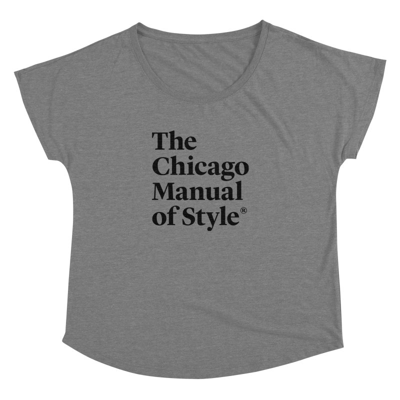 The Chicago Manual of Style, Black Logo Women's Scoop Neck by Chicago Manual of Style