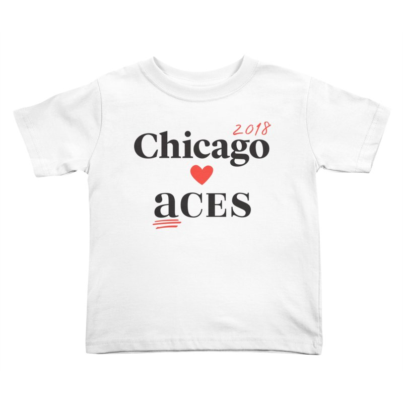 Chicago Hearts ACES 2018 Black + Red Kids Toddler T-Shirt by Chicago Manual of Style