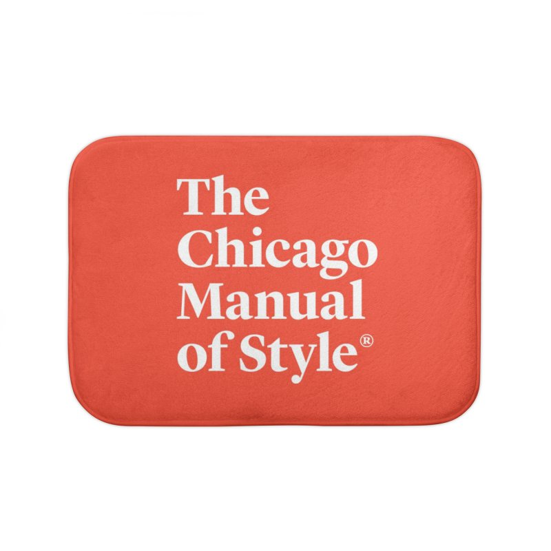 The Chicago Manual of Style, White Logo Home Bath Mat by Chicago Manual of Style