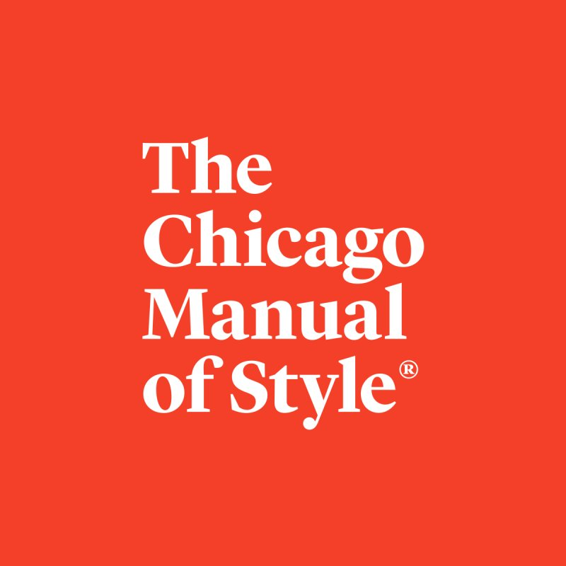 The Chicago Manual of Style, White Logo Men's T-Shirt by Chicago Manual of Style