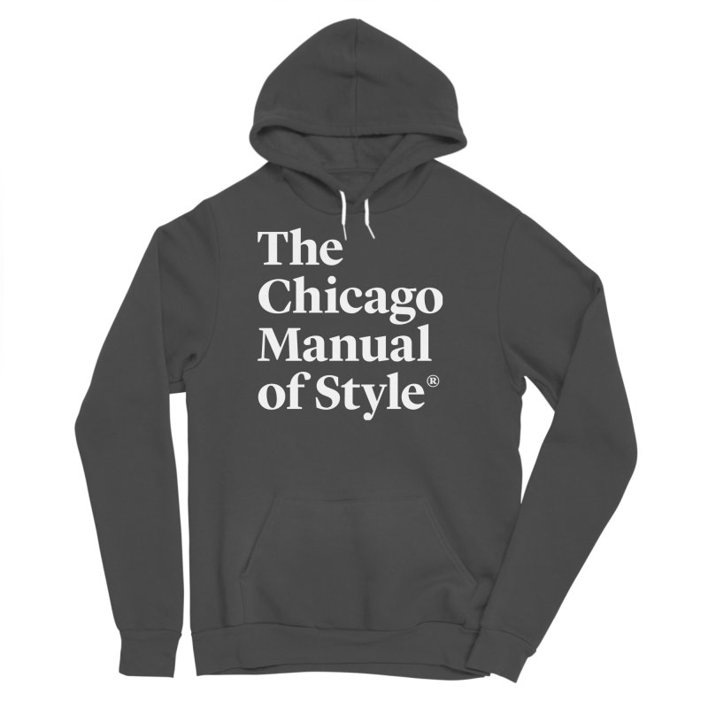 The Chicago Manual of Style, White Logo Men's Pullover Hoody by Chicago Manual of Style