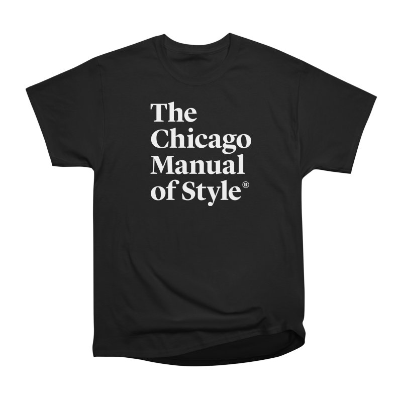 The Chicago Manual of Style, White Logo Men's Heavyweight T-Shirt by Chicago Manual of Style