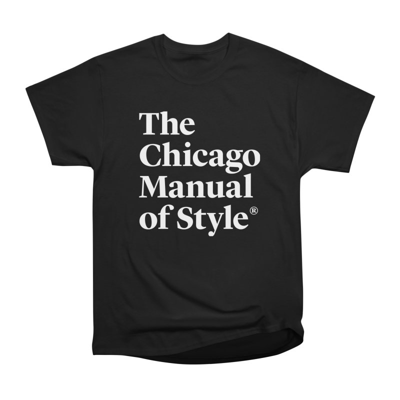 The Chicago Manual of Style, White Logo on Warm Red Men T-Shirt by Chicago Manual of Style