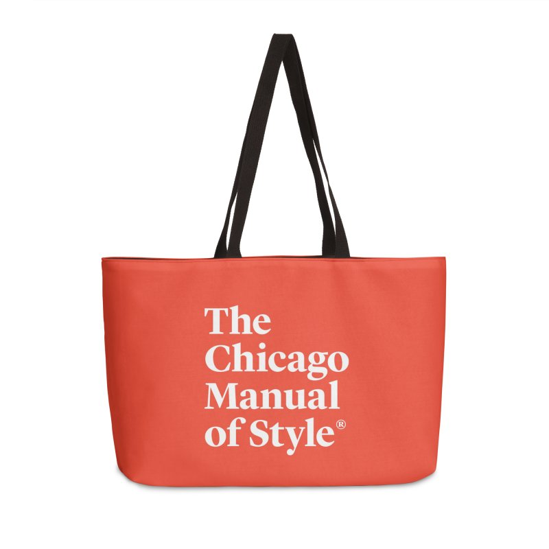 The Chicago Manual of Style, White Logo Accessories Bag by Chicago Manual of Style