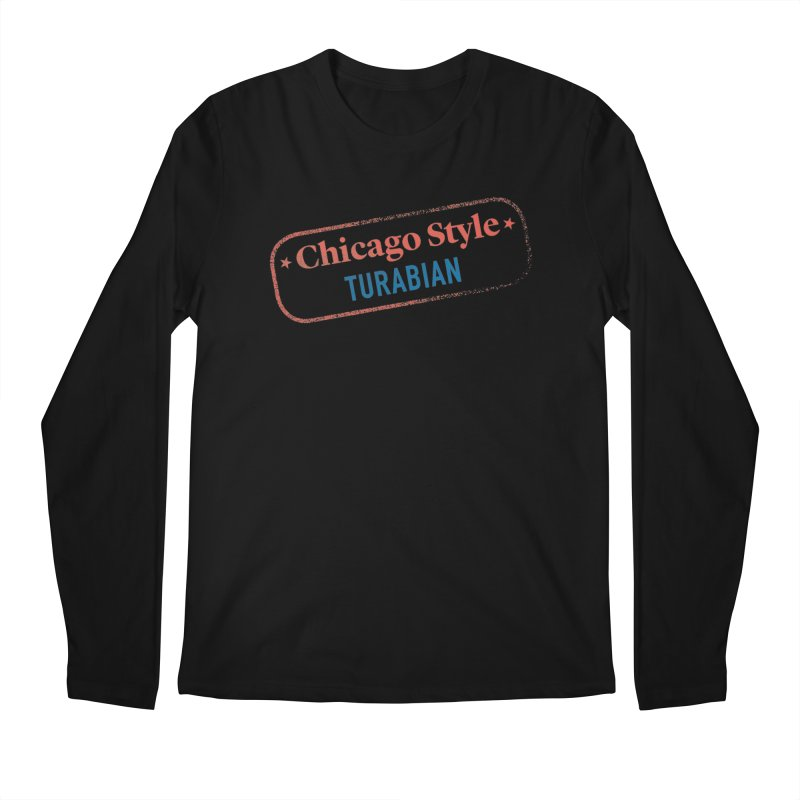 Stamp of Approval Men's Regular Longsleeve T-Shirt by Chicago Manual of Style