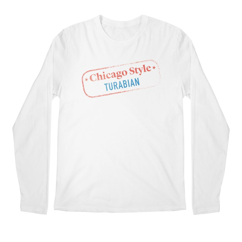 Chicago-Style Stamp of Approval Men's Regular Longsleeve T-Shirt by Chicago Manual of Style