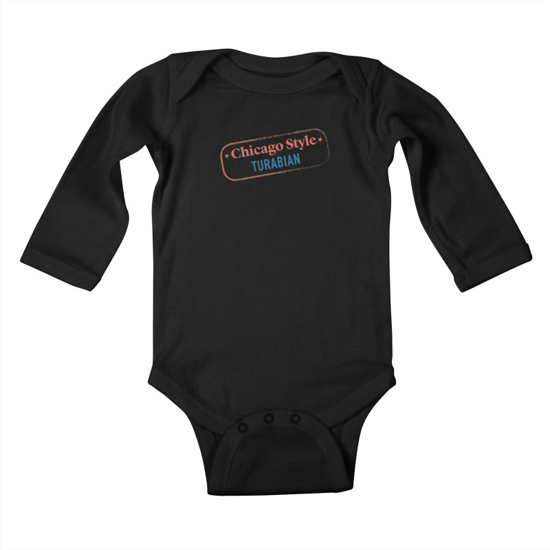 Stamp of Approval Kids Baby Longsleeve Bodysuit by Chicago Manual of Style