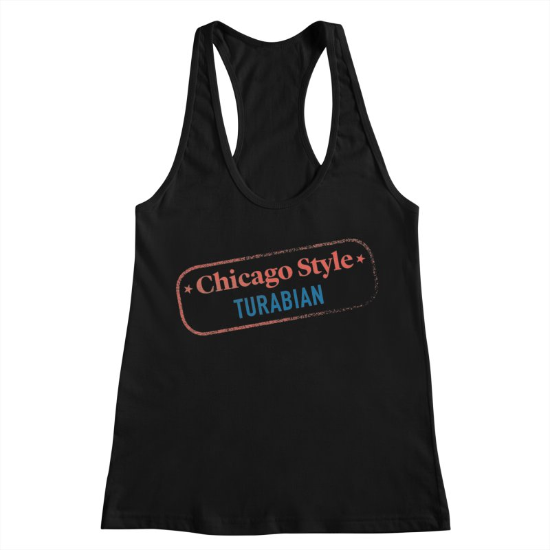 Chicago-Style Stamp of Approval Women's Racerback Tank by Chicago Manual of Style