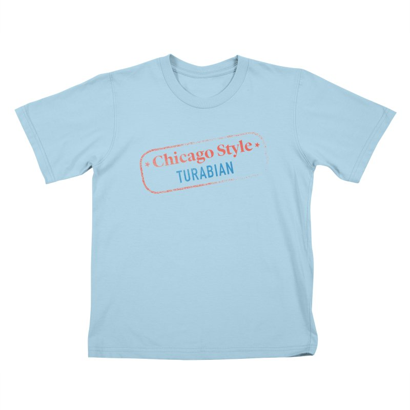 Chicago-Style Stamp of Approval Kids T-Shirt by Chicago Manual of Style