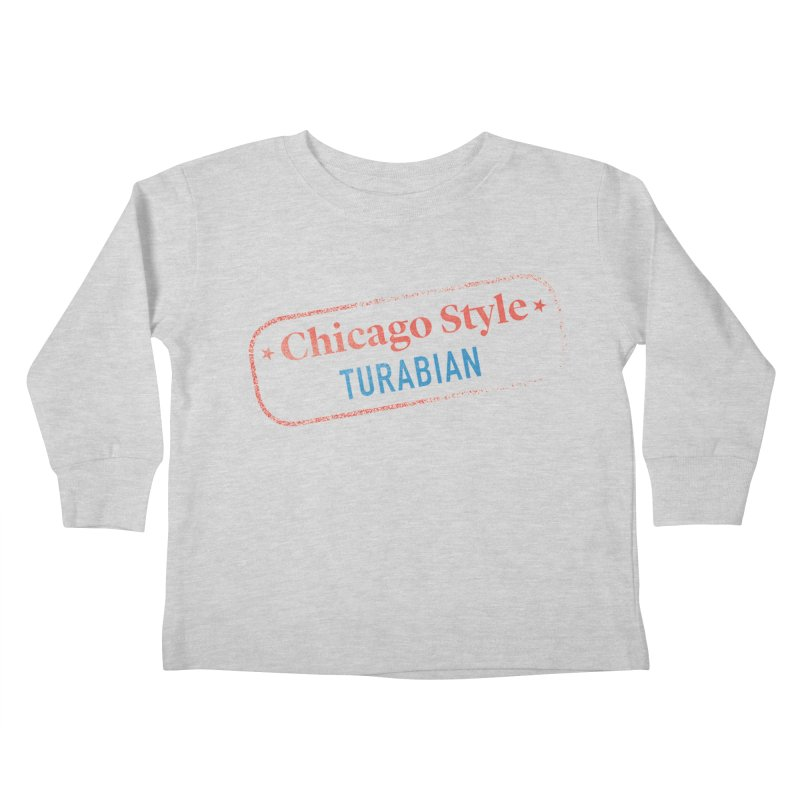 Chicago-Style Stamp of Approval Kids Toddler Longsleeve T-Shirt by Chicago Manual of Style