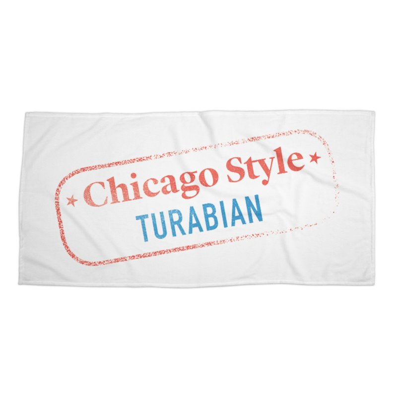 Chicago-Style Stamp of Approval Accessories Beach Towel by Chicago Manual of Style