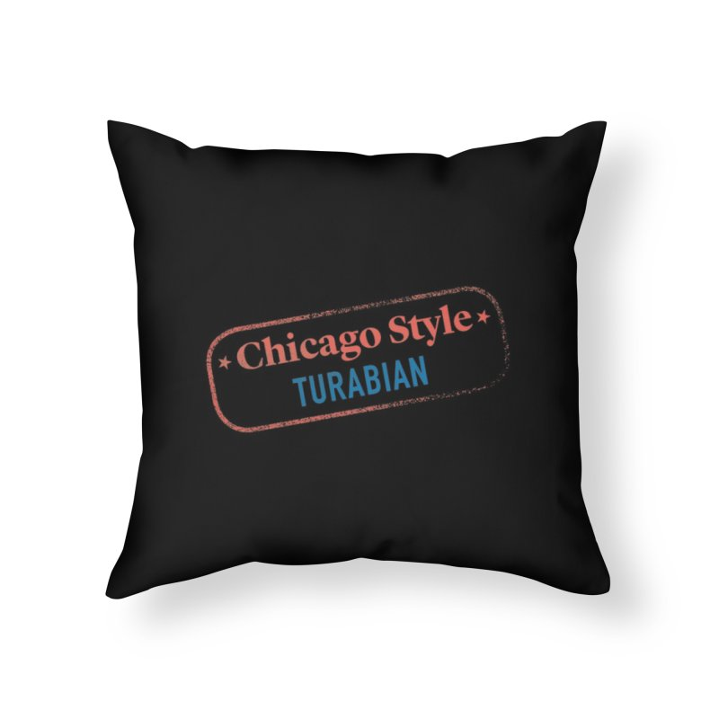 Stamp of Approval in Throw Pillow by Chicago Manual of Style