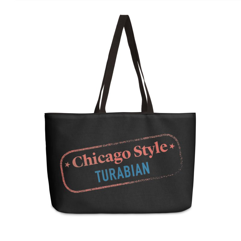 Chicago-Style Stamp of Approval, Black More Fun Stuff Bag by Chicago Manual of Style